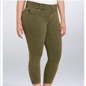 Torrid | Olive Wash Stiletto Zip Jegging
